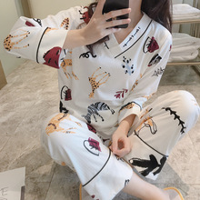 2019 Women Pajamas Sets 2 PCS/Lot Spring Cotton Long Sleeve