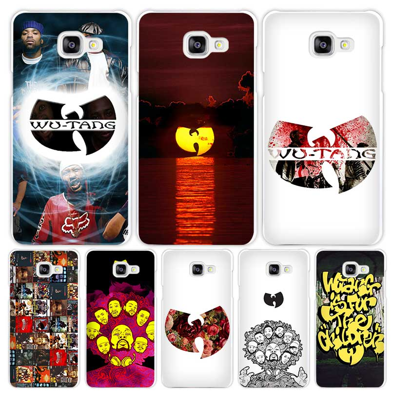Wu Tang Hard White Coque Shell Case Cover Phone Cases for Samsung Galaxy A3 A5 A7 2016 2017 A8 A9