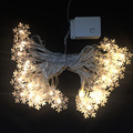 Holiday Lighting Curtain Light Christmas Light Snowflake Outdoor Wedding Wreath Decoration 110V 5M 50LED