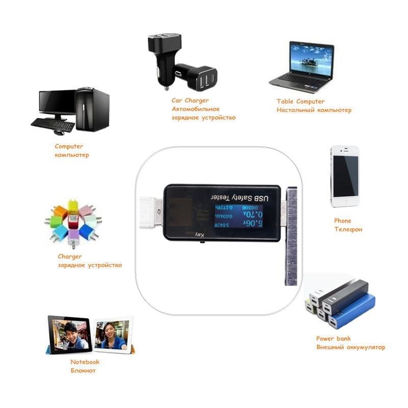 5V 9V 12V 30V USB áram- és feszültségtöltő kapacitásmérő QC - Mérőműszerek - Fénykép 6
