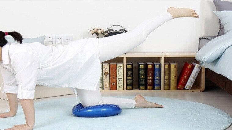 20PCS Inflatable yoga massage cushion the balancing disk soft mat thickening riot yoga balance ball pad cushion 6 5ft diameter inflatable beach ball helium balloon for advertisement