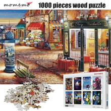 MOMEMO A Quiet Street Corner Wooden Jigsaw Puzzles Beautiful Landscape Puzzle 1000 Pieces Games Kids Toys