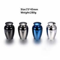 IJU027 High Polished 316L Stainless Steel Memorial Urn Funeral Ashes Holder Urns for Pet/Human Cremation Keepsake Jewelry