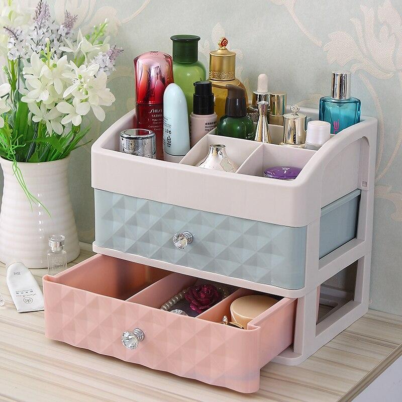 Desktop transparent skin care products lipstick jewelry box household cosmetics storage box plastic