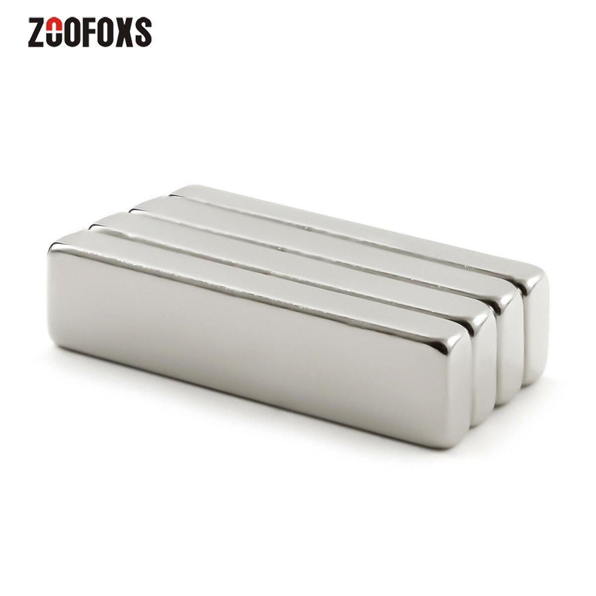 ZOOFOXS 3 шт. 40x10x3/4/5 мм блок неодимовый магнит редкоземельный Мощный магнит на холодильник 40x10x3/4/5 мм для рукоделия «сделай сам»