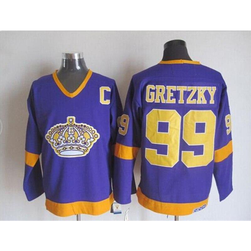 Mens Retro Wayne Gretzky Stitched Name&Number Throwback Hockey Jerseys