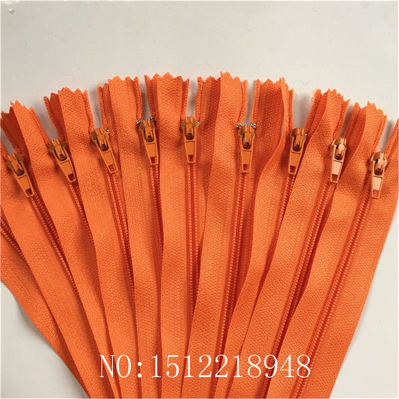 50pcs ( 24 Inch ) 60cm Orange Nylon Coil Zippers Tailor Sewer Craft Crafters &FGDQRS #3 Closed End