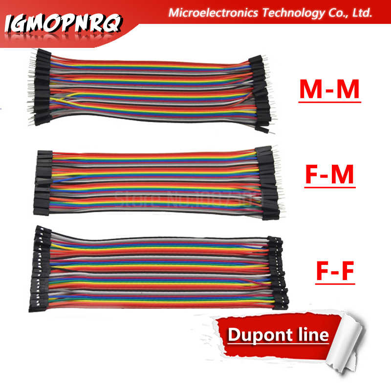 DuPont Line 40 PCS 20 Cm Male To Male/Male untuk Perempuan/Perempuan untuk Perempuan/Jumper Kawat duPont Kabel Dupont Line