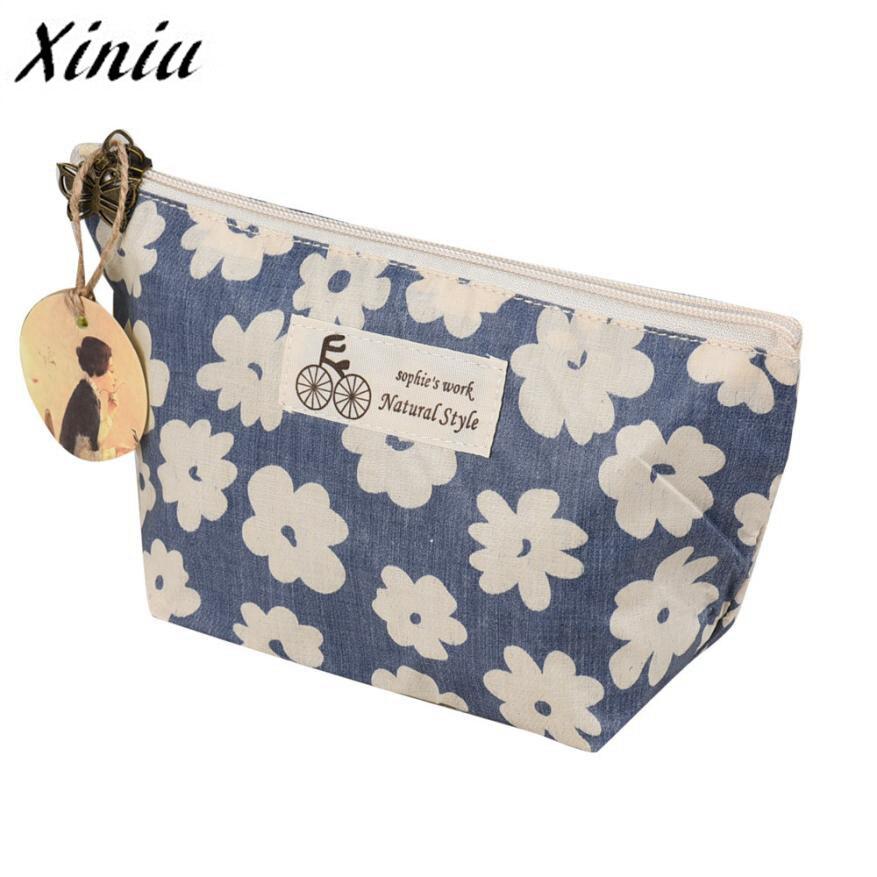 Women Cosmetic Bag Purse Beautician Necessaire Beauty Flower Women Travel Toiletry Pencil Make Up Makeup Case Storage Pouch#121