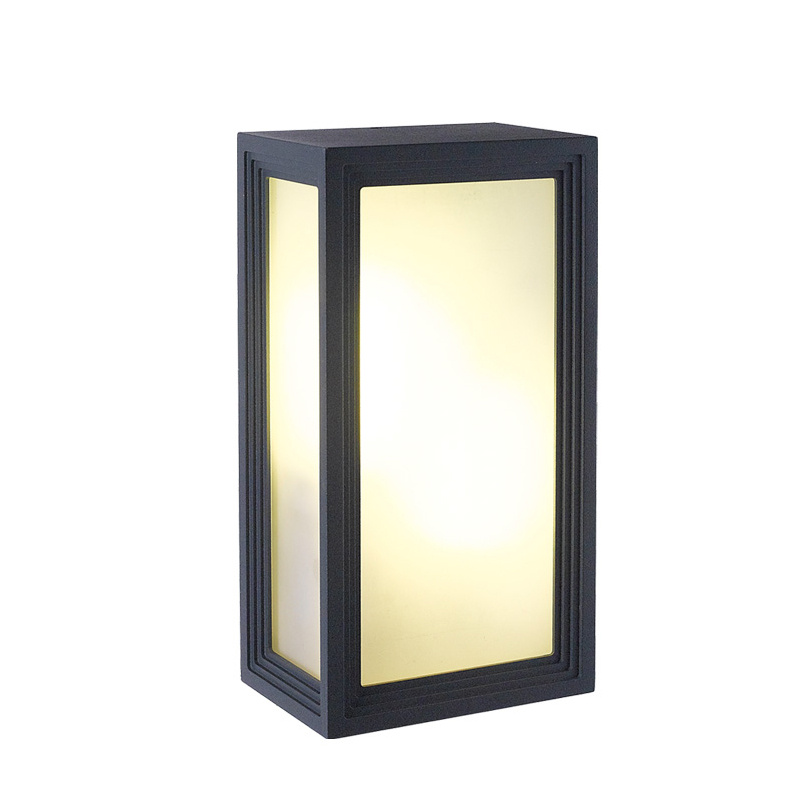 ФОТО Outdoor Waterproof LED Wall Lamps Modern Simple Square Corridor Lights Garden Light AC90-260V With E27 LED Bulbs