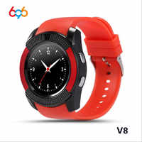 Reloj inteligente 696 V8 con Bluetooth para dormir, reloj inteligente con pantalla táctil, reloj de pulsera con cámara, tarjeta SIM, reloj inteligente a prueba de agua