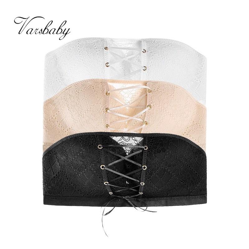 Varsbaby 3 pcs lots Sexy Push Up Wire Free Seamless Underwear Strapless Side Closure Bras