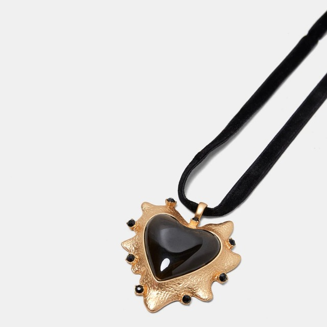 Best Large Heart Choker Pendant Necklace For Women Cheap I Love You Necklace For Girlfriend
