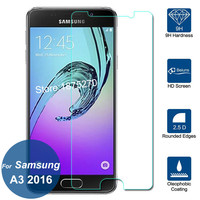 For Samsung GALAXY A3 2016 Tempered Glass Screen Protector 9H Safety Protective Film On A 3 A3100 A310F A310M A310Y Duos Lte