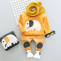 Spring Newborn baby boy clothes animal sweater + pants suit 2pcs sets for toddler child boys baby velet outerwear clothing sets
