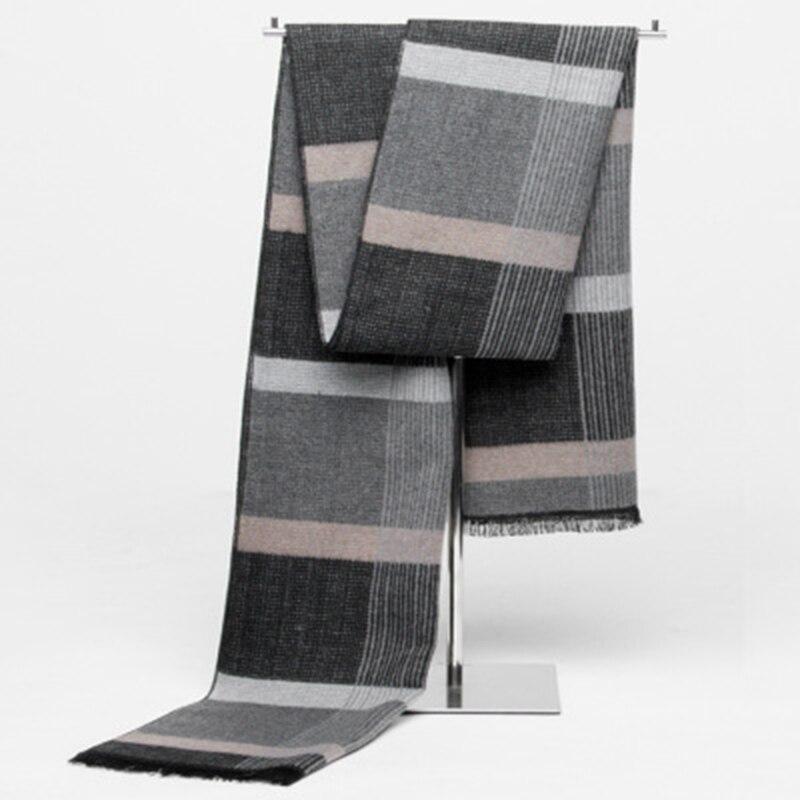 2016 Korean Fashion Shawl Europe Scarves Men New Winter Warm Cashmere Scarf Business Leisure font b