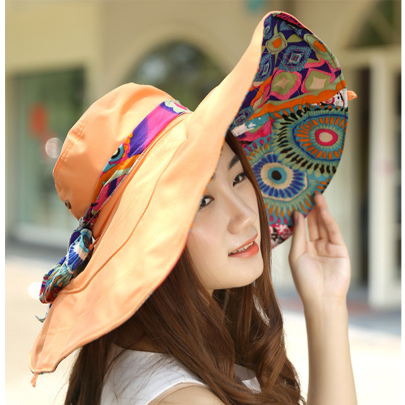 New Fashion Bohemian Style High Quality Cloth Summer Sun Hat For Women Hat  Large Visors Beach Hat Brand Sun Cap-in Sun Hats from Apparel Accessories  on ... a6a8fcdfe51