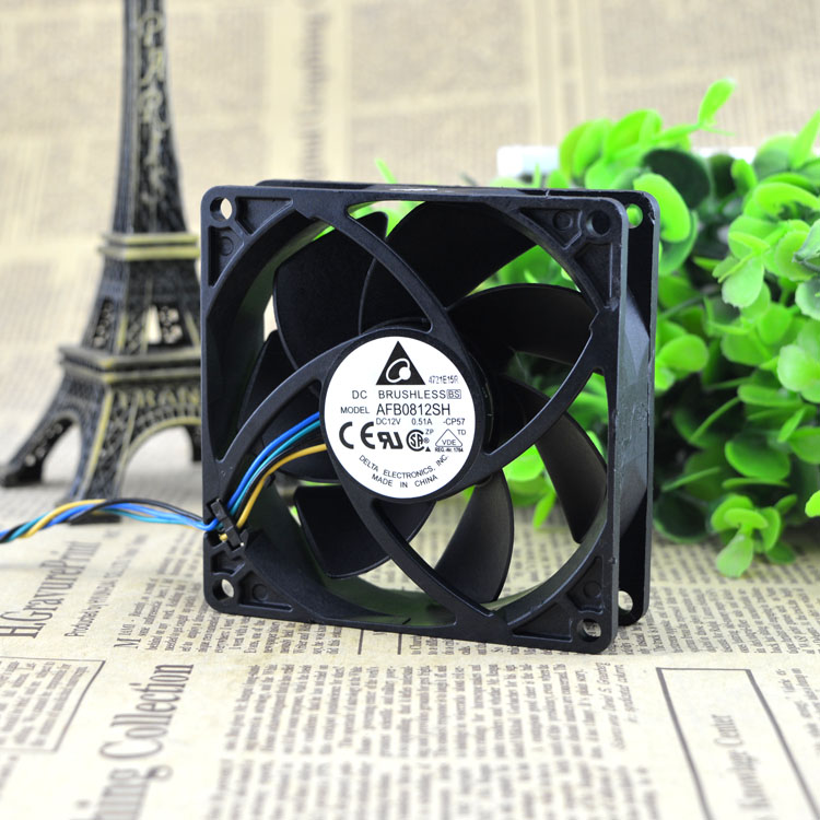 Free Delivery. AFB0812SH 8025 12 v 0.51 A large air volume Double ball bearing fan PWM ...