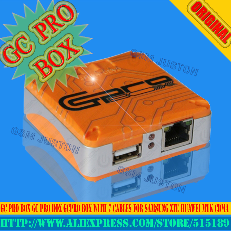 The Newest Verison 100% Original  GC Pro Box GC PRO BOX GcPro Box With 7 Cables For Samsung ZTE Huawei MTK CDMA