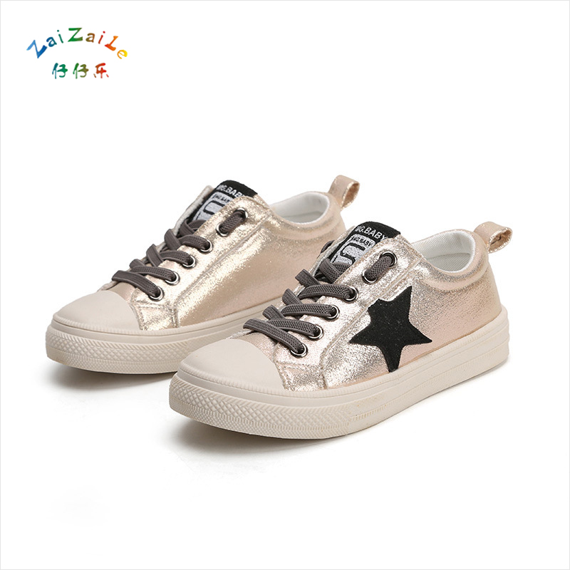 2018 autumn new children's shoes breathable boy star casual shoes students girls sports shoes