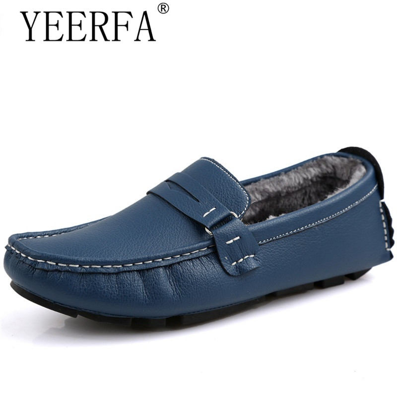 Big Size 47 Winter Cotton Men Casual Fashion High High-top F ats Shoes Warm Fur&Plush Comfortable Leisure Loafers Driving Shoes big size winter warm leisure shoes