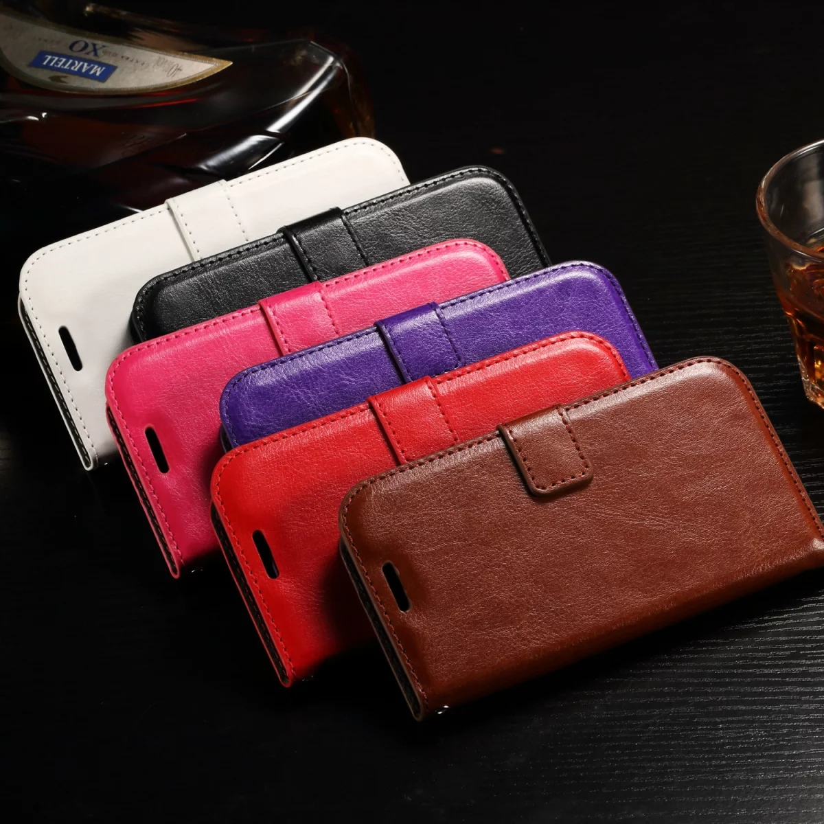 For Huawei Y3 2 / Huawei Y3 II Luxury Crazy horse Leather Case Photo ...