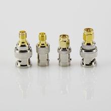 4Pcs BNC- SMA RF Adapter Kit SMA to BNC Straight Nickel & Gold Plated BNC to SMA Male/Female Hogard