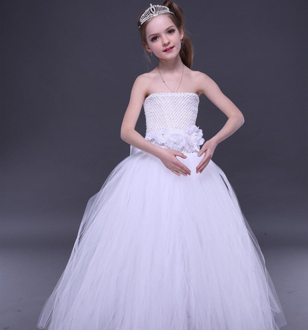 Vestidos para niñas Partido de tarde de la boda 2018 niños hombro ...
