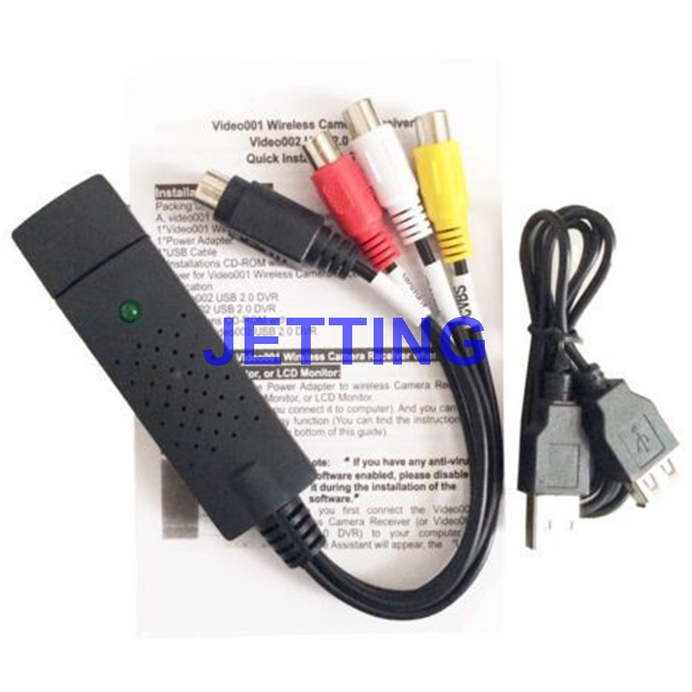 JETTING new USB2.0 VHS to DVD Converter, convert analog video to digital format 2017 new convert analog digital vhs for game box rca to usb2 0 window 7 8 vhs to pc free shipping