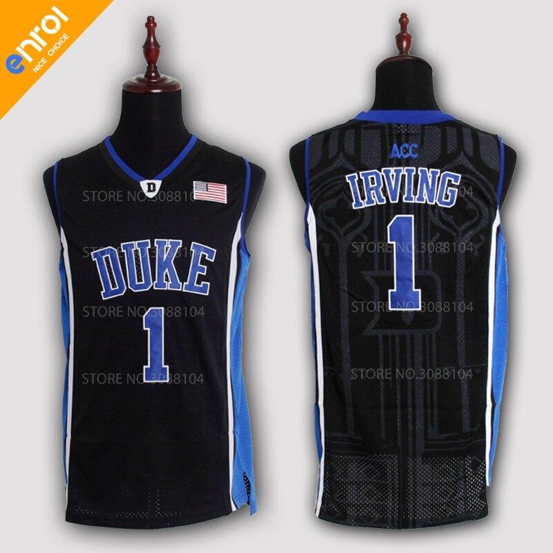 Günstige Kyrie Irving Basketball Jerseys 1 # Duke Universität Blue Devils Hohe Qualität Throwback Genäht Gedenk Retro Shirts