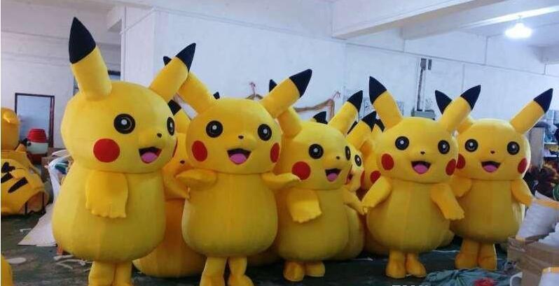 Pikachu Pokemon maskotti puku fancy mekko asu ilmainen - Carnival puvut - Valokuva 3