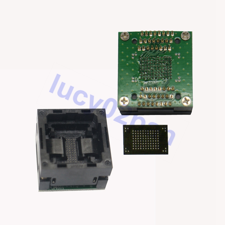 BGA100-DIP48 IC Chip Test Socket,BGA100 To DIP48 Programmer Socket,1.0mm Spacing,IC Size 12x18mm