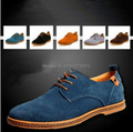 New 2015 Suede European Style Genuine Leather Shoes Men's Oxfords California Casual Loafers, Sneakers For Men Flats Shoes,38-48