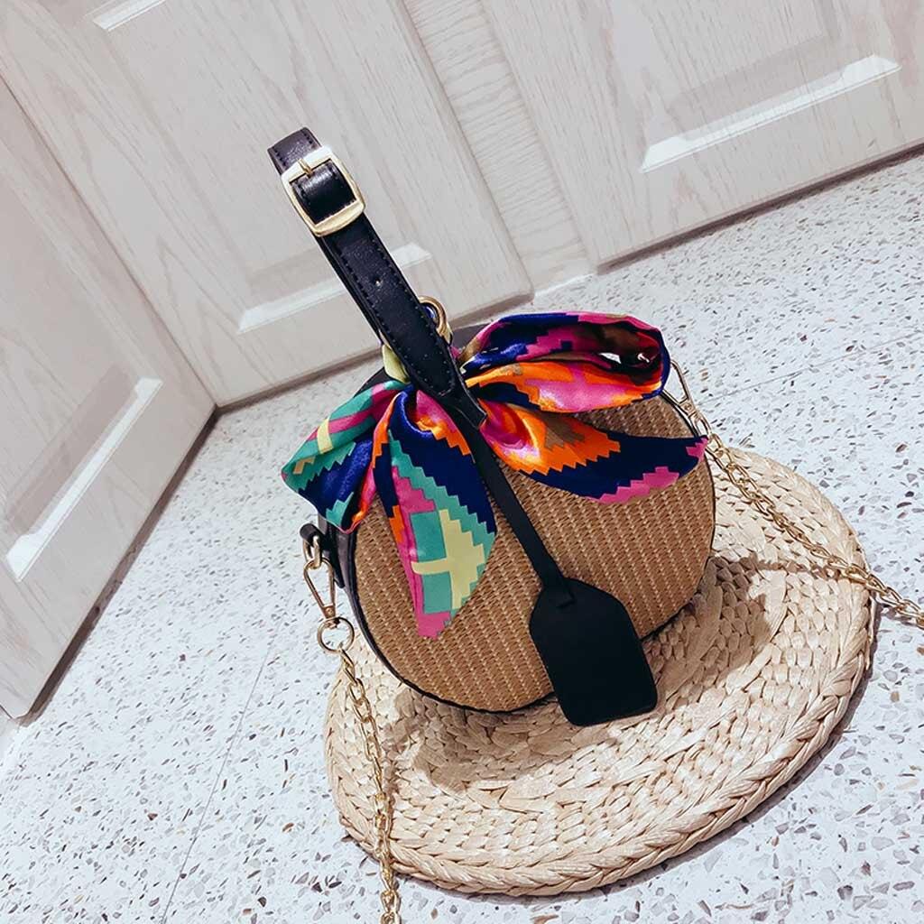 OCARDIAN Handbag Women's Solid Color Ribbon Straw Handbag Saddle Messenger Bag Bolsa Feminina New Fashion 2019 Dropship May16
