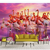 Beibehang Custom Wallpaper 3d Photo Mural Children S Room Beautiful Fashion Flamingo Sea Creative Living Room