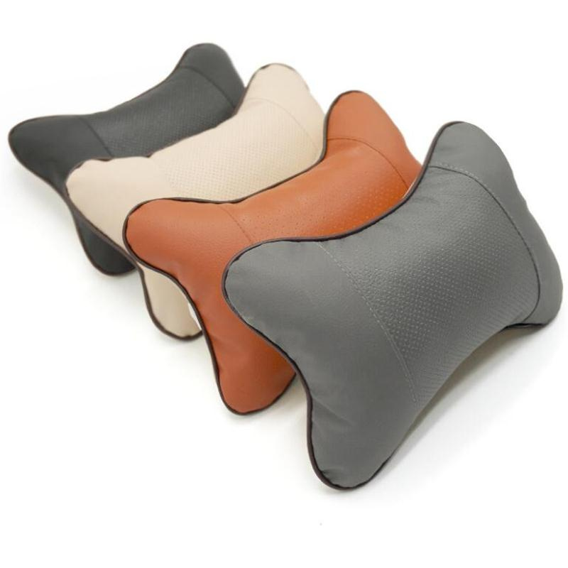 1pcs Car Headrest Neck pillow seat cushion For Mitsubishi Asx Outlander Lancer EX Pajero Evolution Eclipse Grandis Accessories