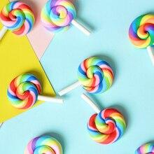 Mini Rainbow Lollipop Colorful Cream Sugar INS Photography Props Photo Studio Accessories DIY Decorations estudio fotografico