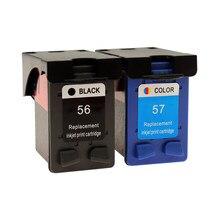 Сменный чернильный картридж Jetvinner для HP 56, 57, XL, для HP 56, 57, HP 56, HP 57, для HP Deskjet 2100, 220, 450, 5510, 5550, 5552, 7150, 7350