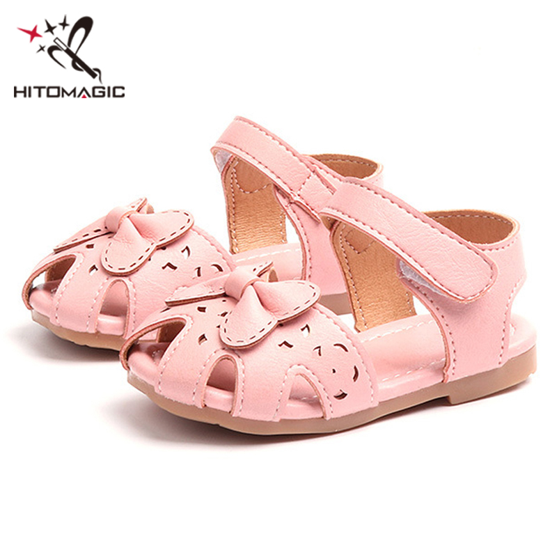 HITOMAGIC Girls Sandals Summer Kids Shoes 2018 Baby Infant Toddler Girl  Shoes Leather Children Soft Footwear 5d3407b15673