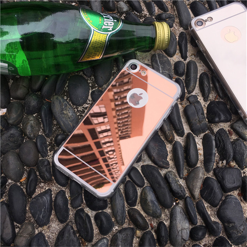 Mirror Silicone Case for iPhone 5 5S SE 5SE iPhone 6 s 6S iPhone 7 7s 8 Plus 6Plus 6SPlus 7Plus 8Plus gel Cell Phone Cover