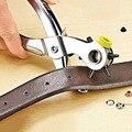 Multi-função Portátil Puncher Couro Heavy Duty Perfuração Mão Alicate Belt Buracos Socos