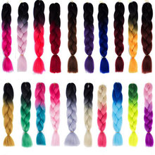 1Pcs Colorful Chemical Fiber Big Braids Wigs African Pigtail Hair Tricks for Fun Halloween Christmas Party Bar Dance Decorations(China)