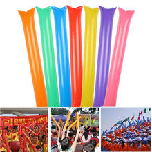 100 Pair Inflatable Stick Bangbang Noisemaker Cheering Sticks Birthday Wedding Party Boom Wand Rave Party Vocal Concert(China)