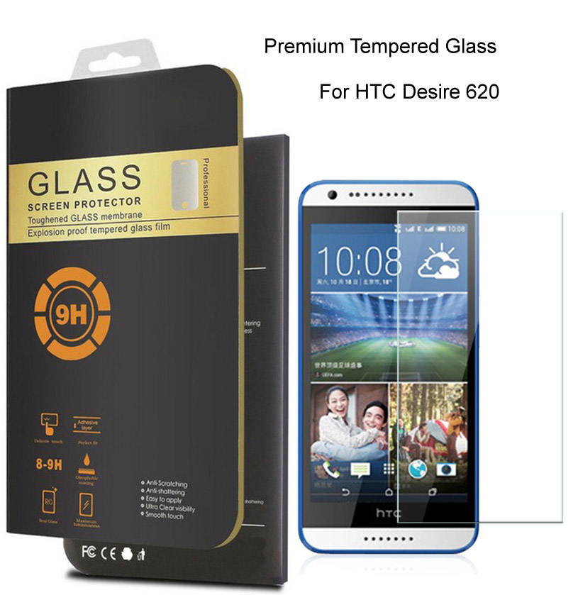 For HTC Desire 620 0.26mm Premium Protective Film Tempered Glass For HTC Desire 620G dual sim Phone Screen Protector