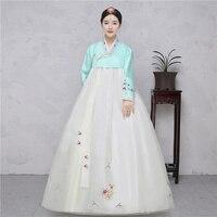 Truyền thống cung điện cưới lady hàng ngày màn trình diễn của Hàn Quốc hanbok quần áo bảng khiêu vũ trang phục hiển th