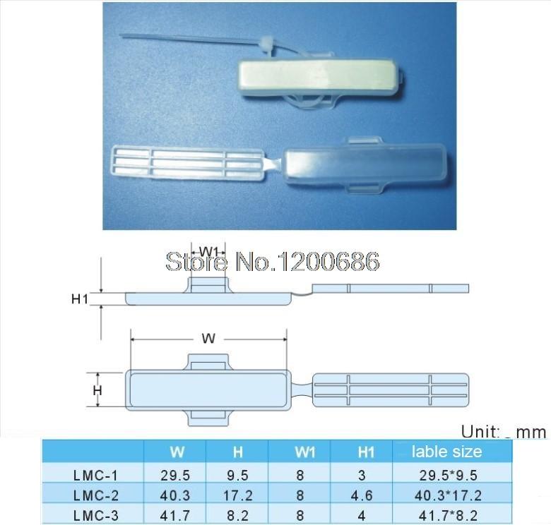 LMC 2 Kabel Etiketten Draht Marker und Label box wasserdichte kabel ...