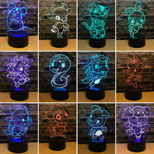 7 color change 3d Nightlight 12 Zodiac Decoration Acrylic Creative Table Lamp Bedside Gift Usb Led Night Light