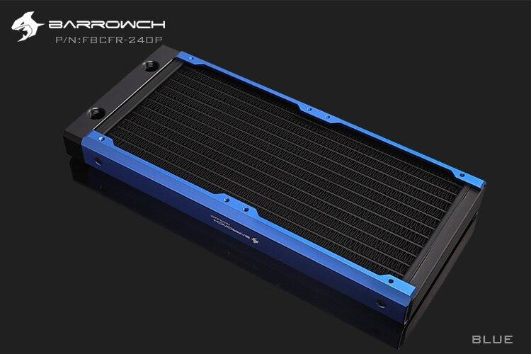 BARROWCH 240 мм радиатор POM/акриловое издание модульный Хамелеон рыбы съемный мульти-красочный FBCFR-240 новое поступление - Цвет лезвия: Blue POM