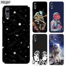 Soft Silicone Phone Back Case For Huawei P20 P30 P8 P9 P10 lite Pro Plus P Smart + TPU Heart Cover Space Moon Astronaut
