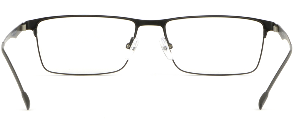 3ce765ac089 Black Full Rim Thin Light Men Women Titanium Frame Rectangular ...